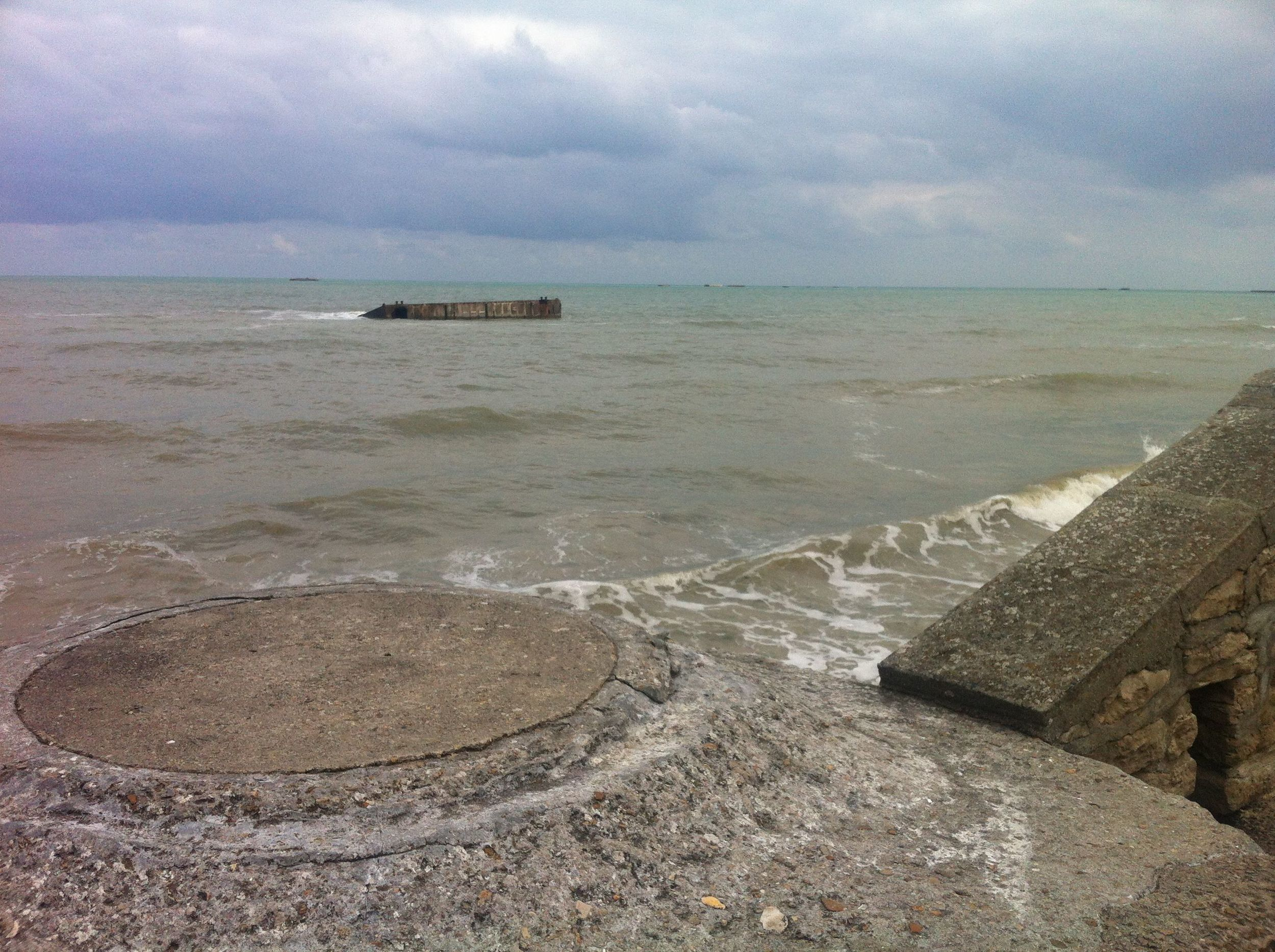 WWII relics at Gold Beach, Normandy.