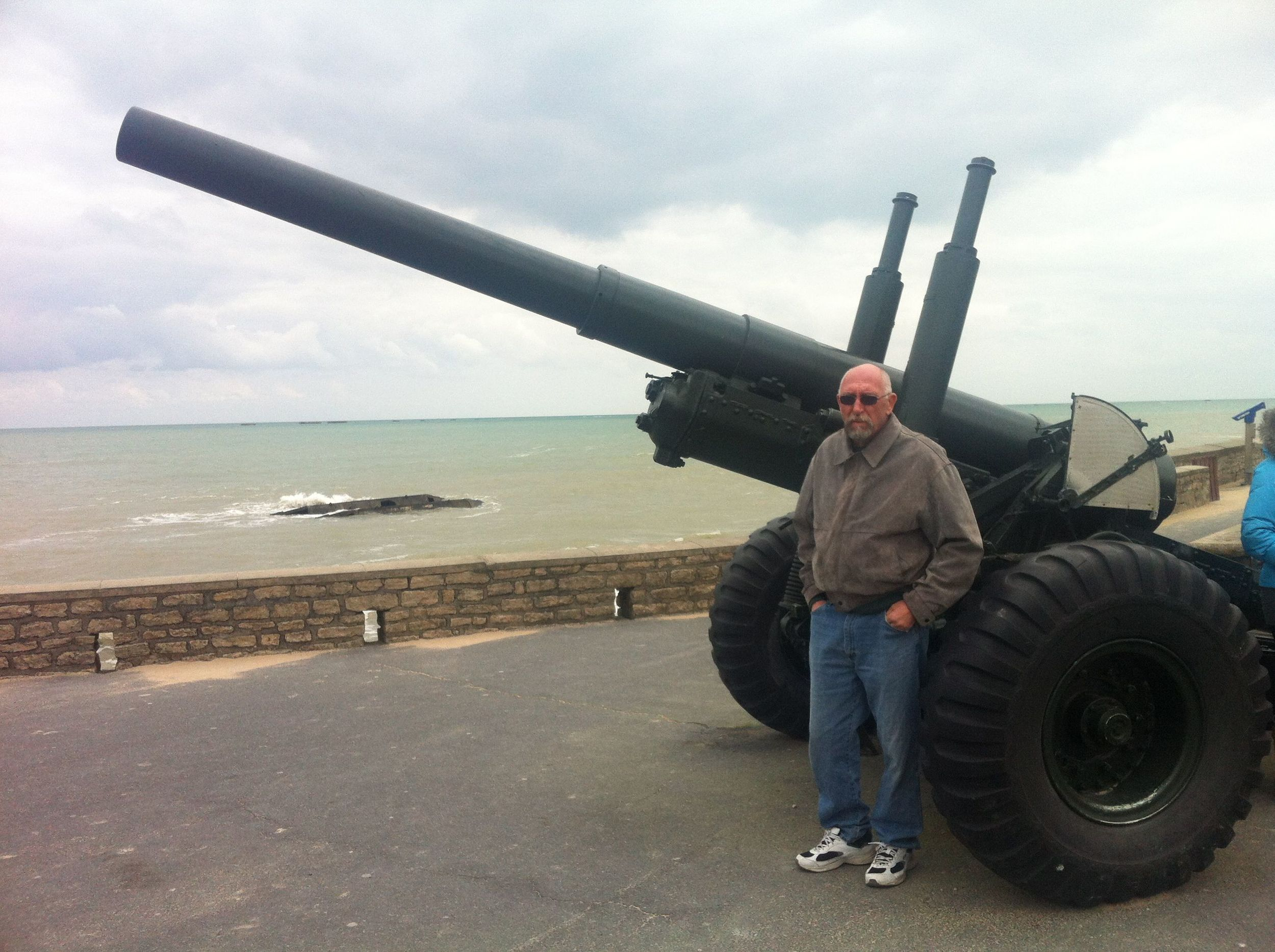 My dad at Gold Beach, Normandy