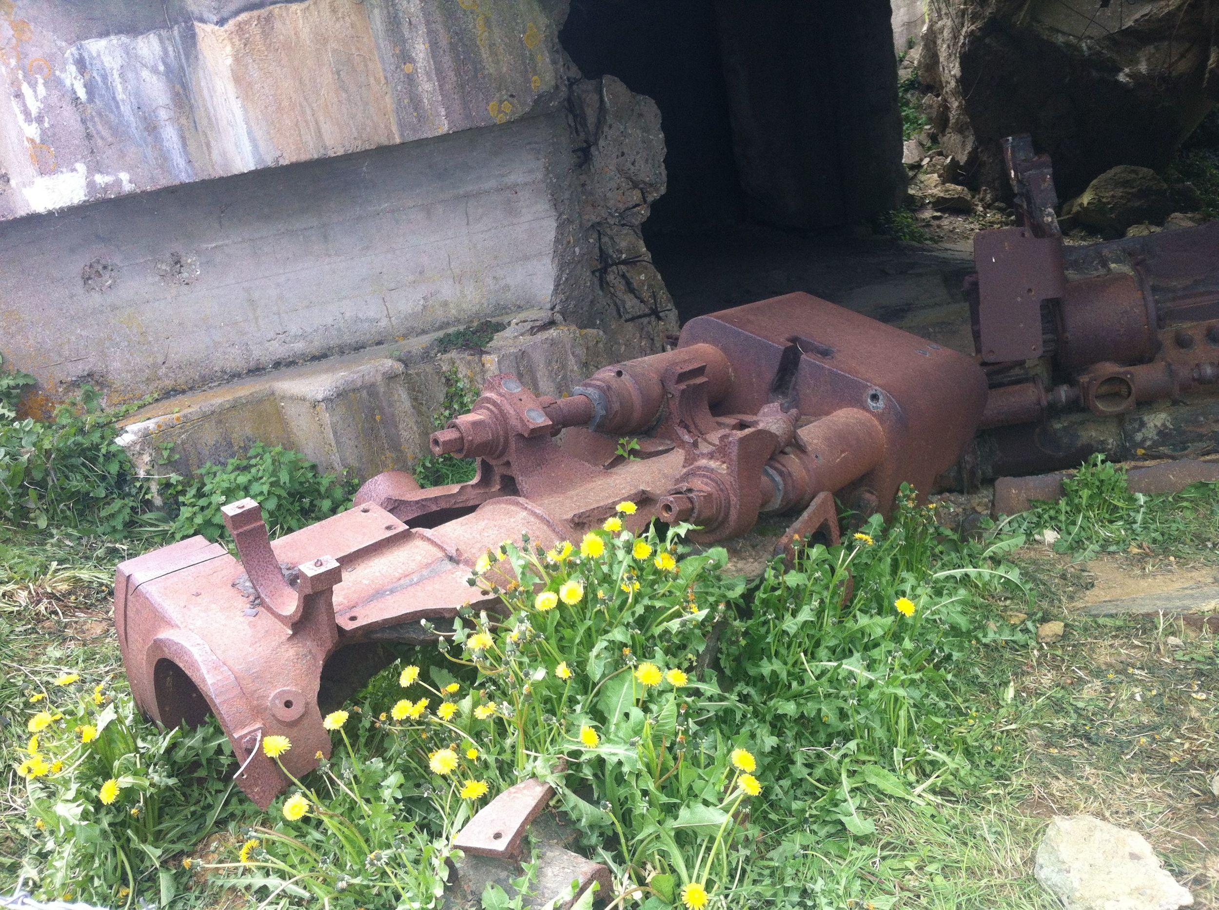 German artillery preserved near Gold Beach, Normandy.