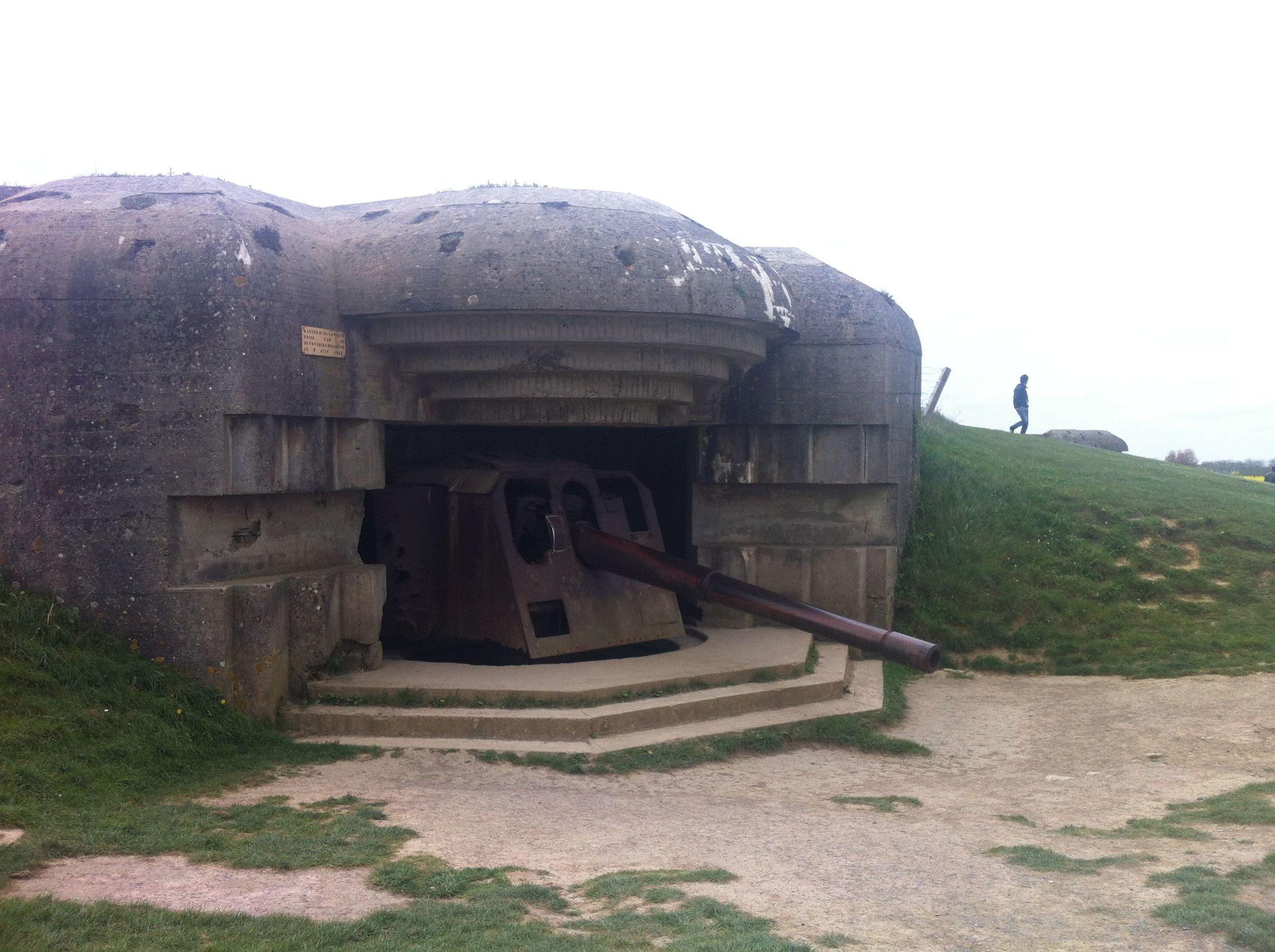 German bunkers near Gold Beach, Normandy.