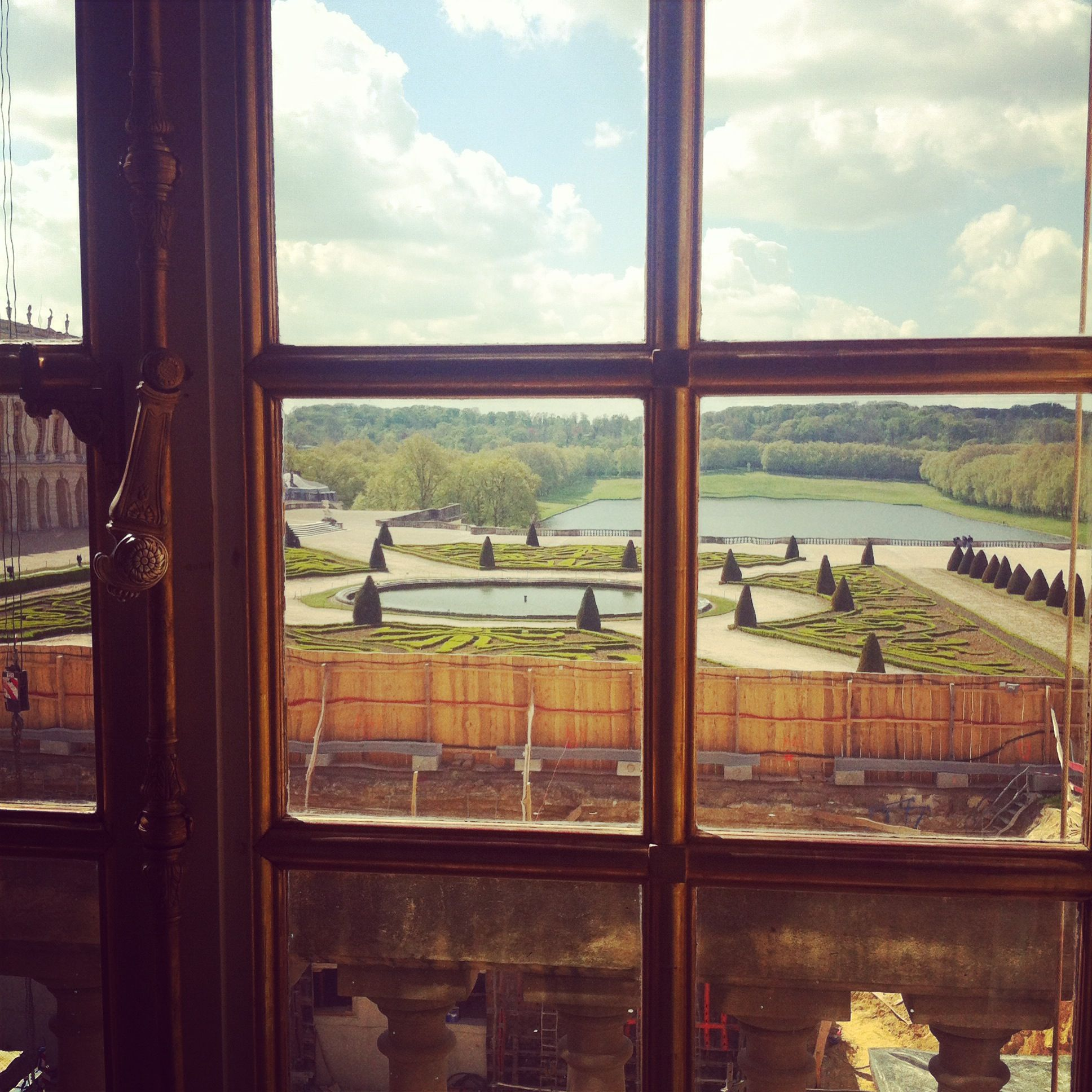 View of the gardens from Marie Antoinette's bedroom.