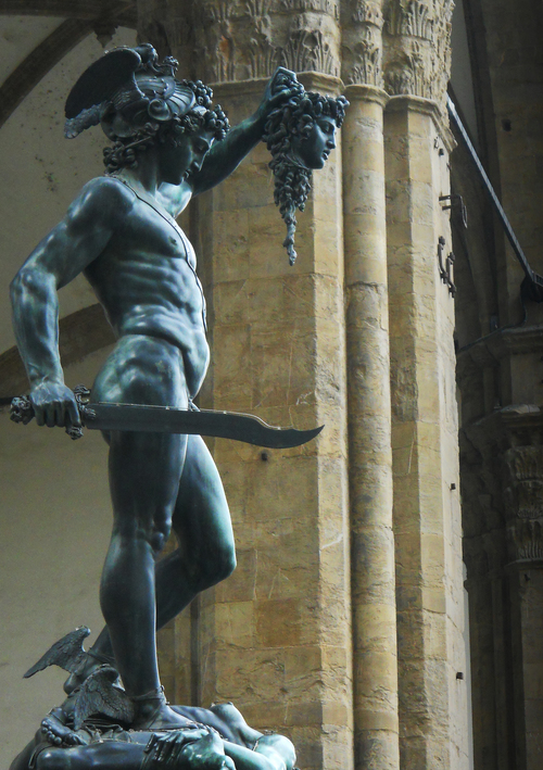 Perseus With The Head of Medusa  by Cellini (©Deborah Clague)