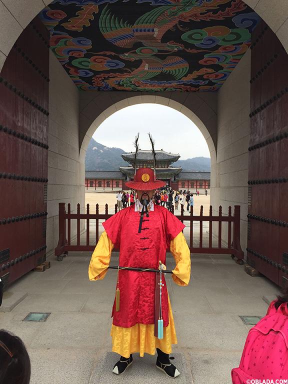 Gyeongbokgung Palace guard (©Deborah Clague/Oblada.com)