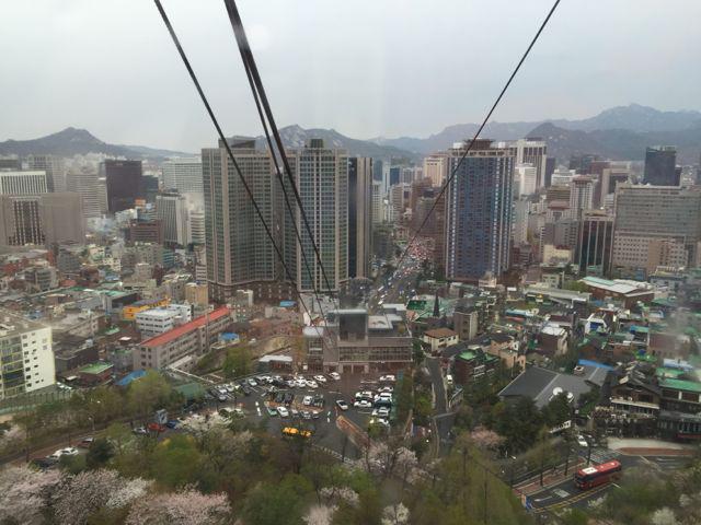 Taking the cable car up Namsan Mountain (©Deborah Clague/Oblada.com)