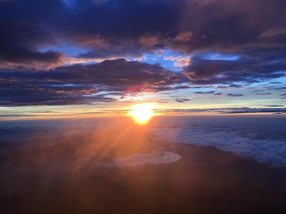 Sunrise over Japan (©Deborah Clague)