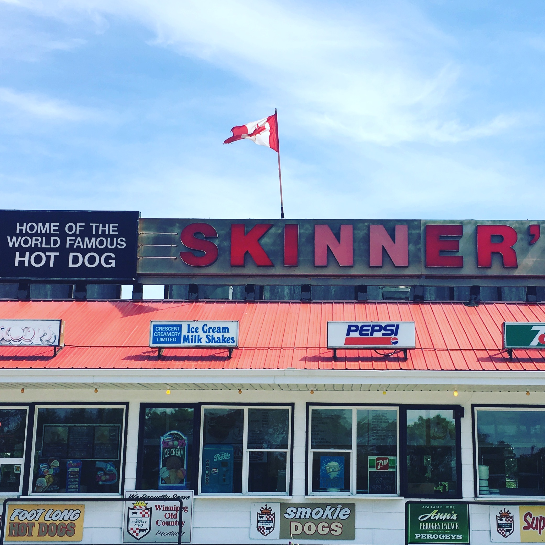 Skinner's is a Manitoba institution and welcomes visitors at the gateway to the Interlake. I can attest to the fact that their hot dogs are delicious but the ice cream is also worth the drive as well.