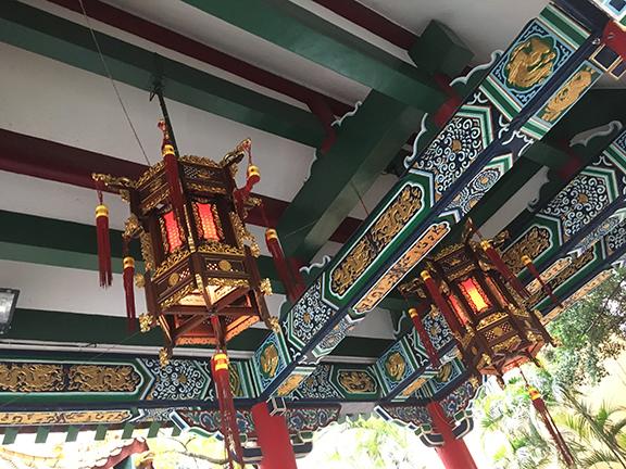 Ceiling detail, Wong Tai Sin Temple, Hong Kong (©Deborah Clague, 2018).