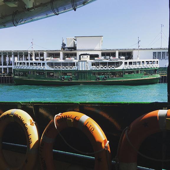 All aboard the Star Ferry (©Deborah Clague, 2018).