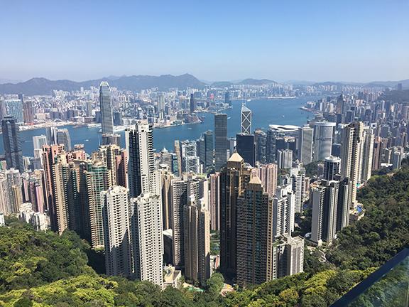 View from the top (©Deborah Clague, 2018).