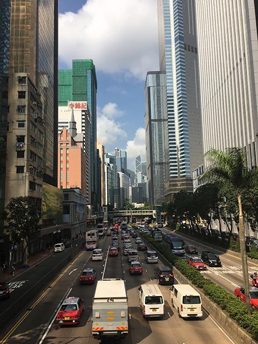 Central district, Hong Kong (©Deborah Clague, 2018).