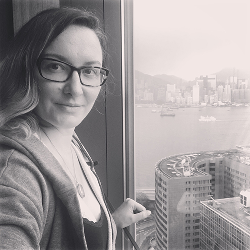 One last selfie from the top of Hotel Icon (©Deborah Clague, 2018).
