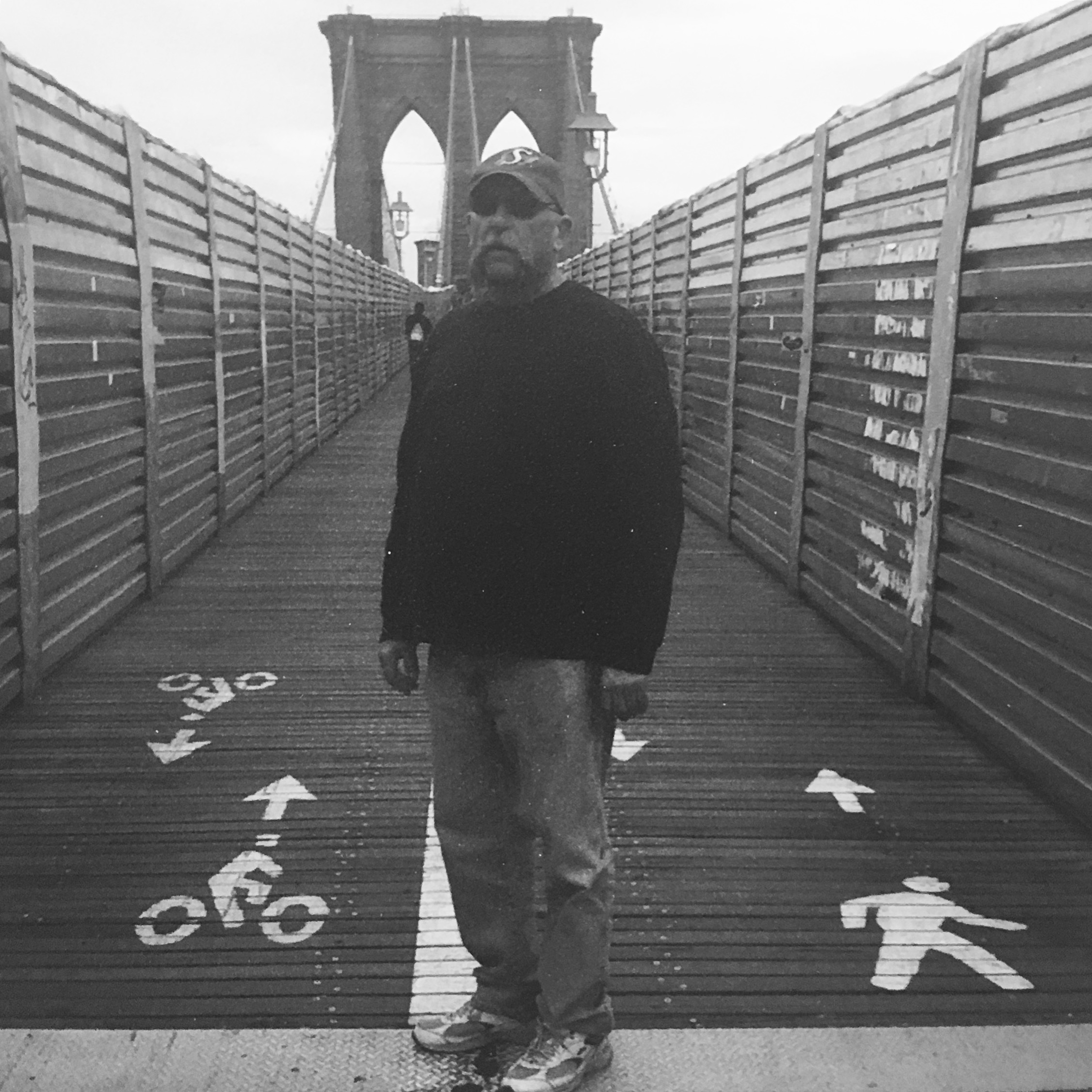 My dad in New York City, one of his favourite places (2012 ©Deborah Clague).