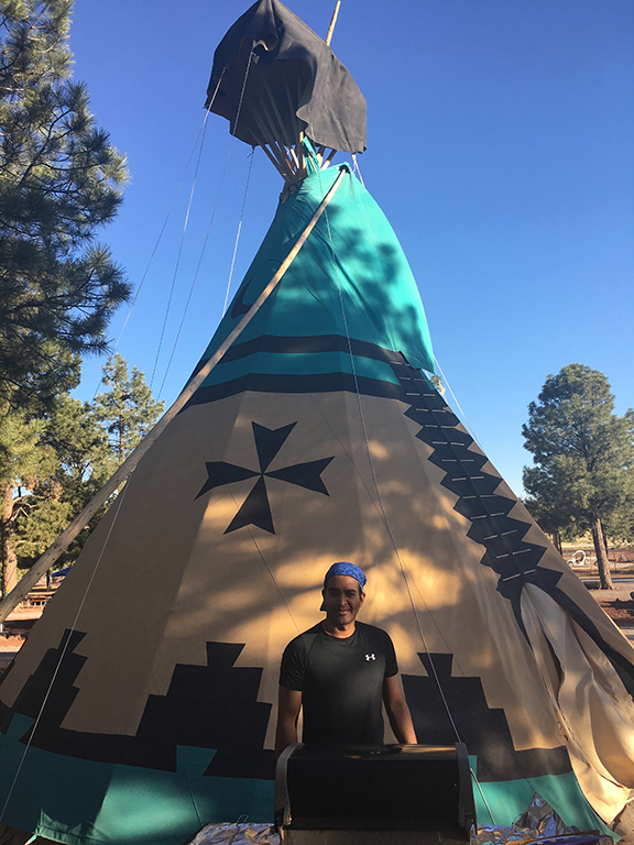 Our accommodation for the night, a teepee in Williams, Arizona (©Deborah Clague, 2018).