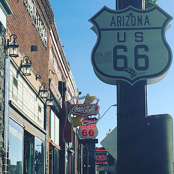 Route 66, Williams, Arizona (©Deborah Clague, 2018).