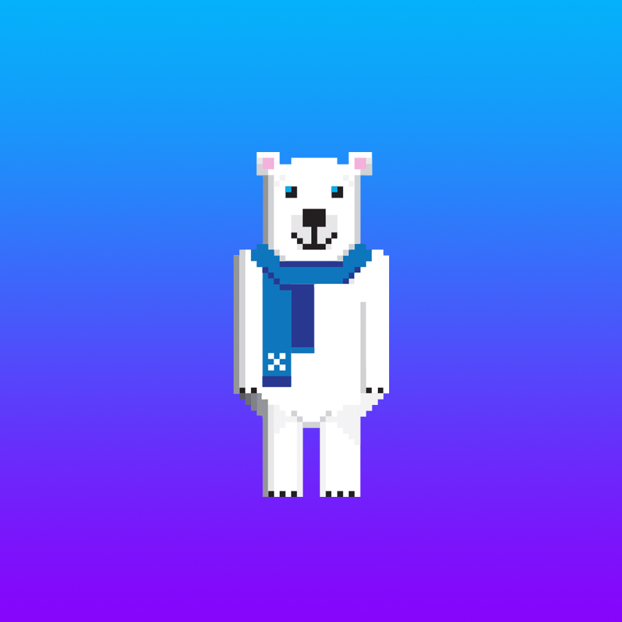 "Churchill the polar bear from a game concept titled ""Churchill Rush"" (©Deborah Clague)"