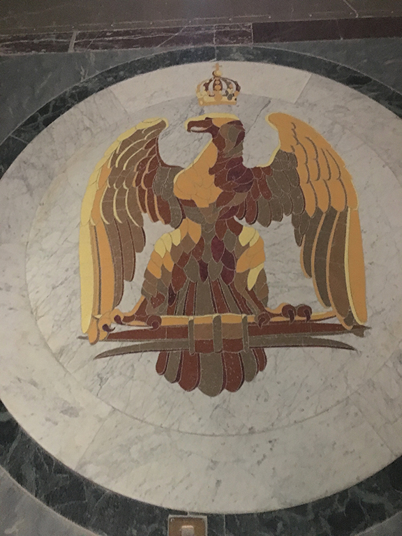 Ornamental floor, Les Invalides (©Deborah Clague, 2019).