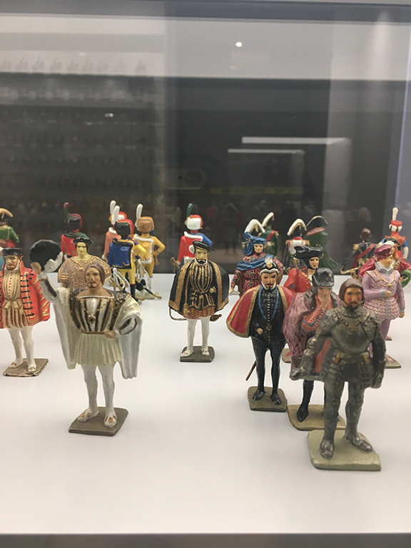 Room of artillery models and figurines, Musee de l'Armée, Les Invalides (©Deborah Clague, 2019).