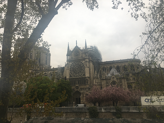 The day after the fire at Notre-Dame Cathedral, Paris (©Deborah Clague, 2019).