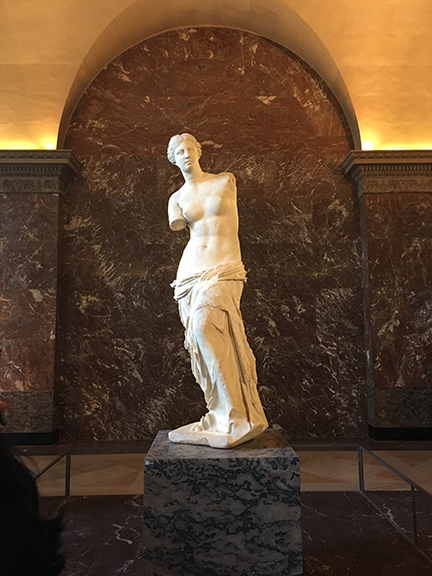 The Venus di Milo, Louvre, Paris (©Deborah Clague, 2019).