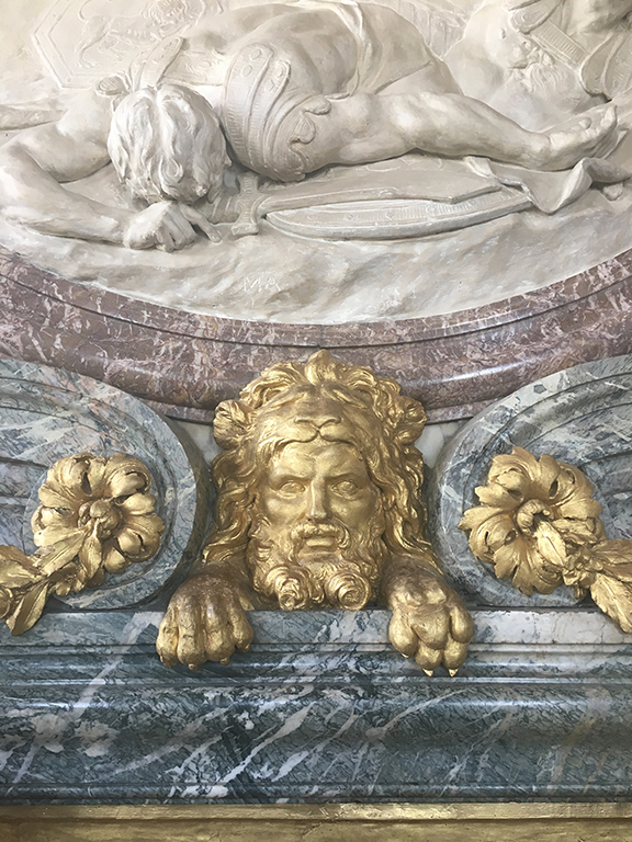 Detail at the Palace of Versailles, France (©Deborah Clague, 2019).
