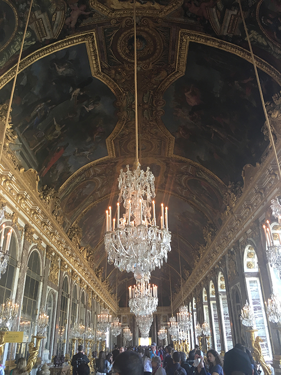 Hall of Mirrors, Versailles, France (©Deborah Clague, 2019).