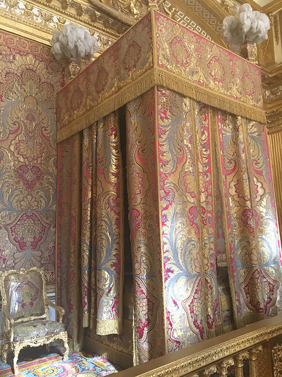 Bedroom detail at Versailles, France (©Deborah Clague, 2019).