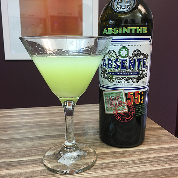 Absinthe from France (55% alcohol content)(©Deborah Clague, 2019).