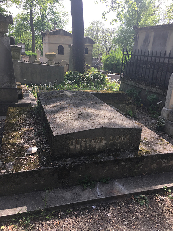 The grave I most wanted to pay respects to, that of my favourite artist Gustave Doré at Pére Lachaise Cemetary in Paris, France (©Deborah Clague, 2019).