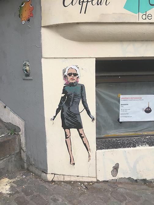 Karl forever. Montmarte, Paris (©Deborah Clague, 2019).