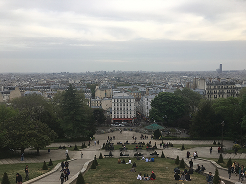 View from atop Sacre-Coeur, Paris (©Deborah Clague, 2019).