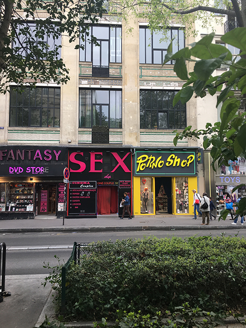 Paris' sex district (©Deborah Clague, 2019).