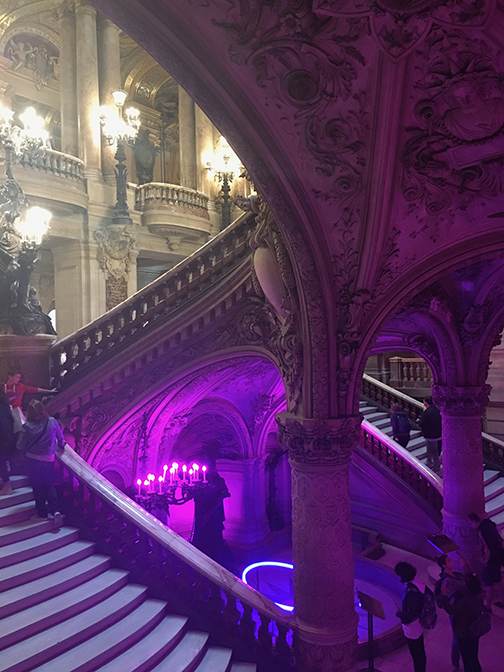 The Grand Staircase, Palais Garnier, Paris (©Deborah Clague, 2019).