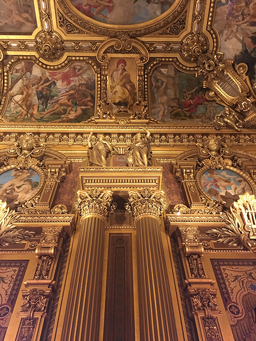The Grand Foyer, Palais Garnier, Paris (©Deborah Clague, 2019).