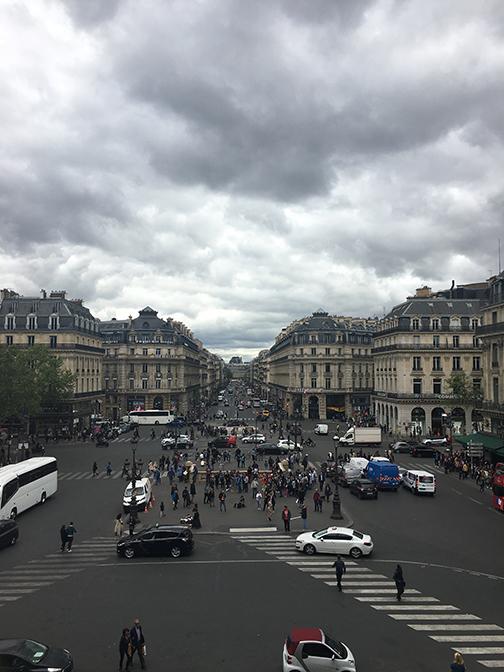 View from the top of the Palais Garnier, Paris (©Deborah Clague, 2019).