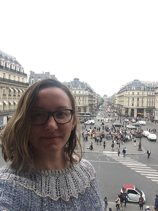 """This is my """"Don't Cry For Me Argentina"""" moment atop the Palais Garnier (©Deborah Clague, 2019)."""