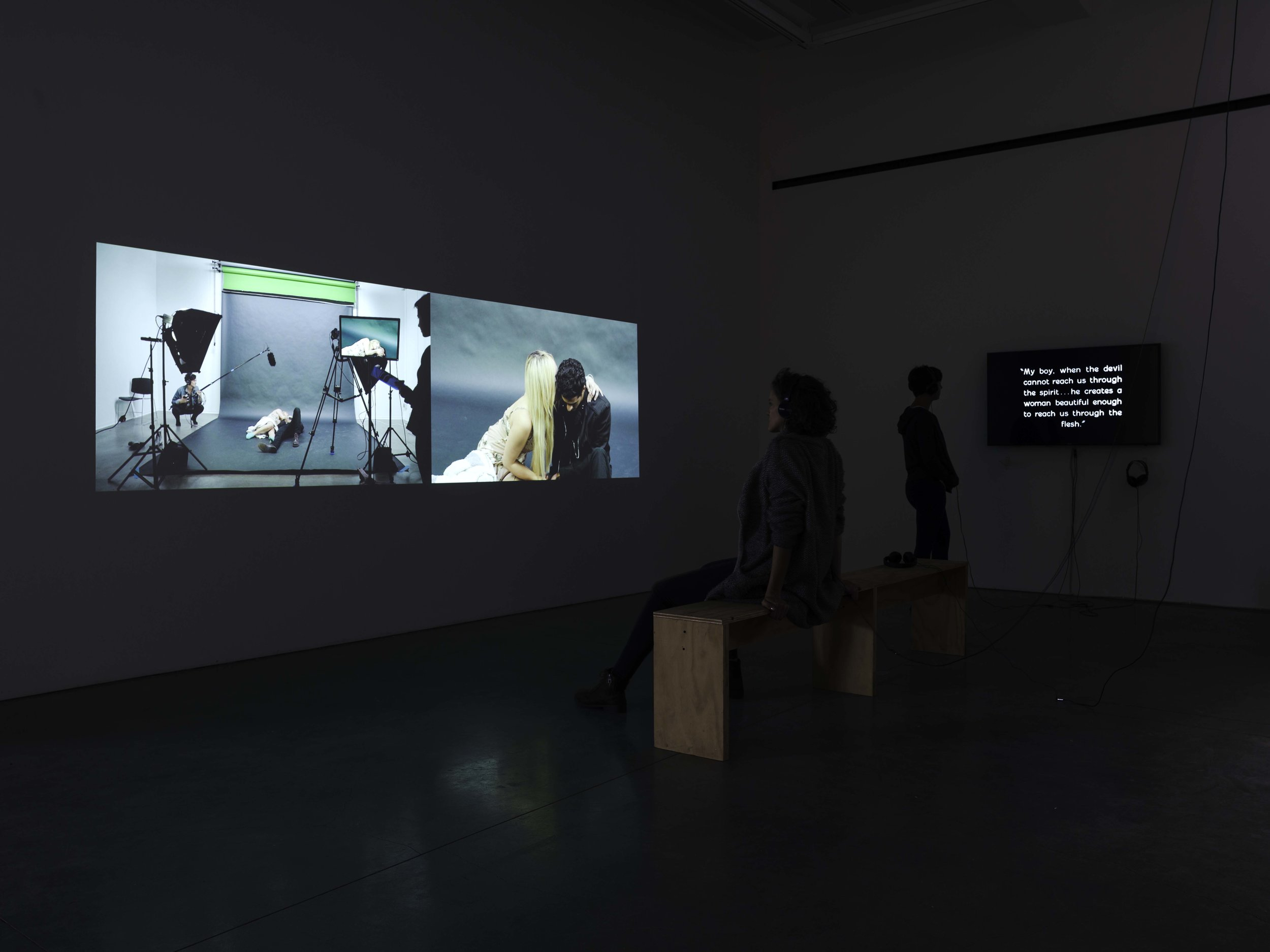 Installation view, pictured with  Flesh and the Devil (1928-2018)