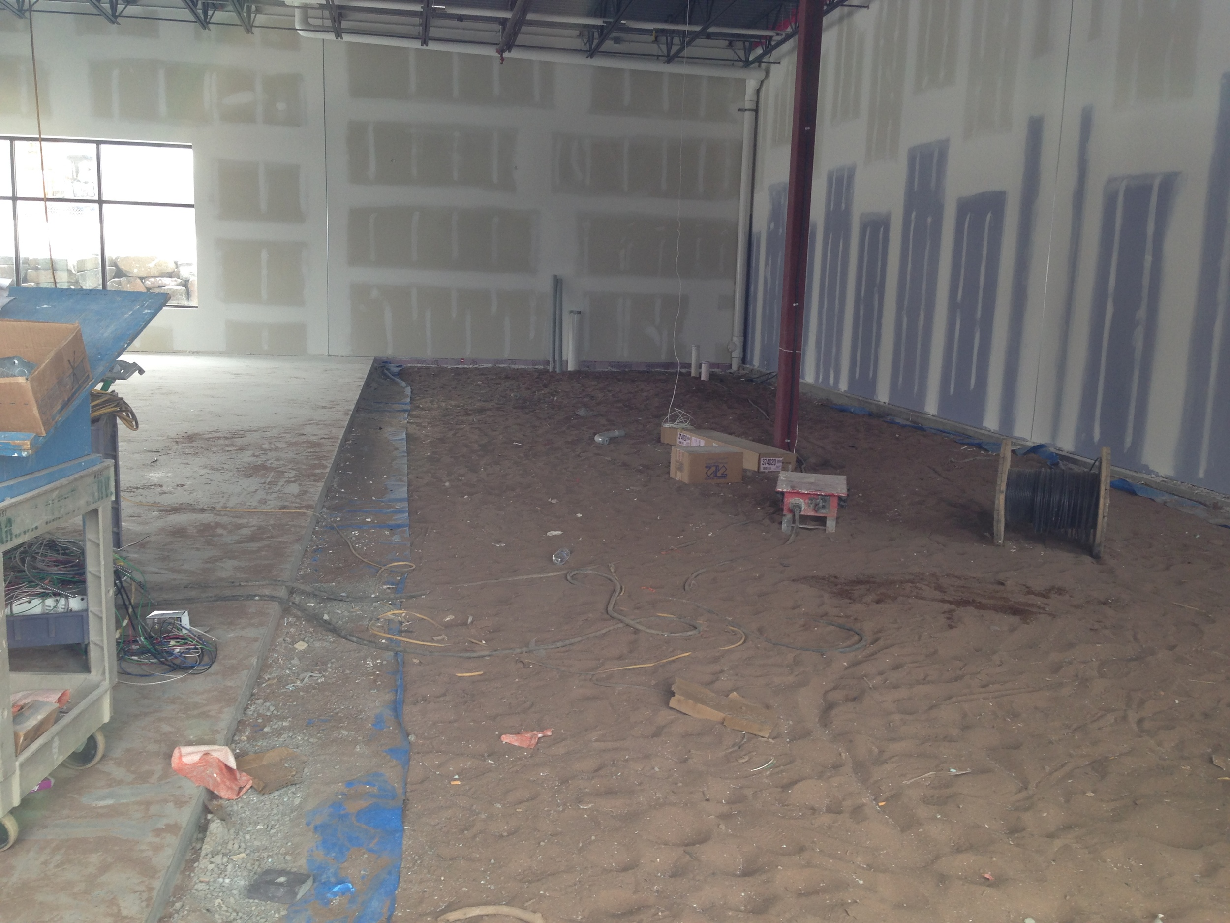 Current state of the new Qdoba location.