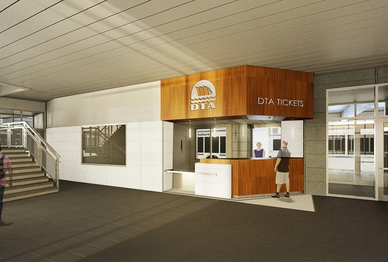 Interior passenger waiting terminal space. IMAGE: LHB CORP