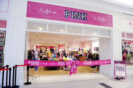 Current Pink store prototype design  (Image NOT property of CDINDULUTH)