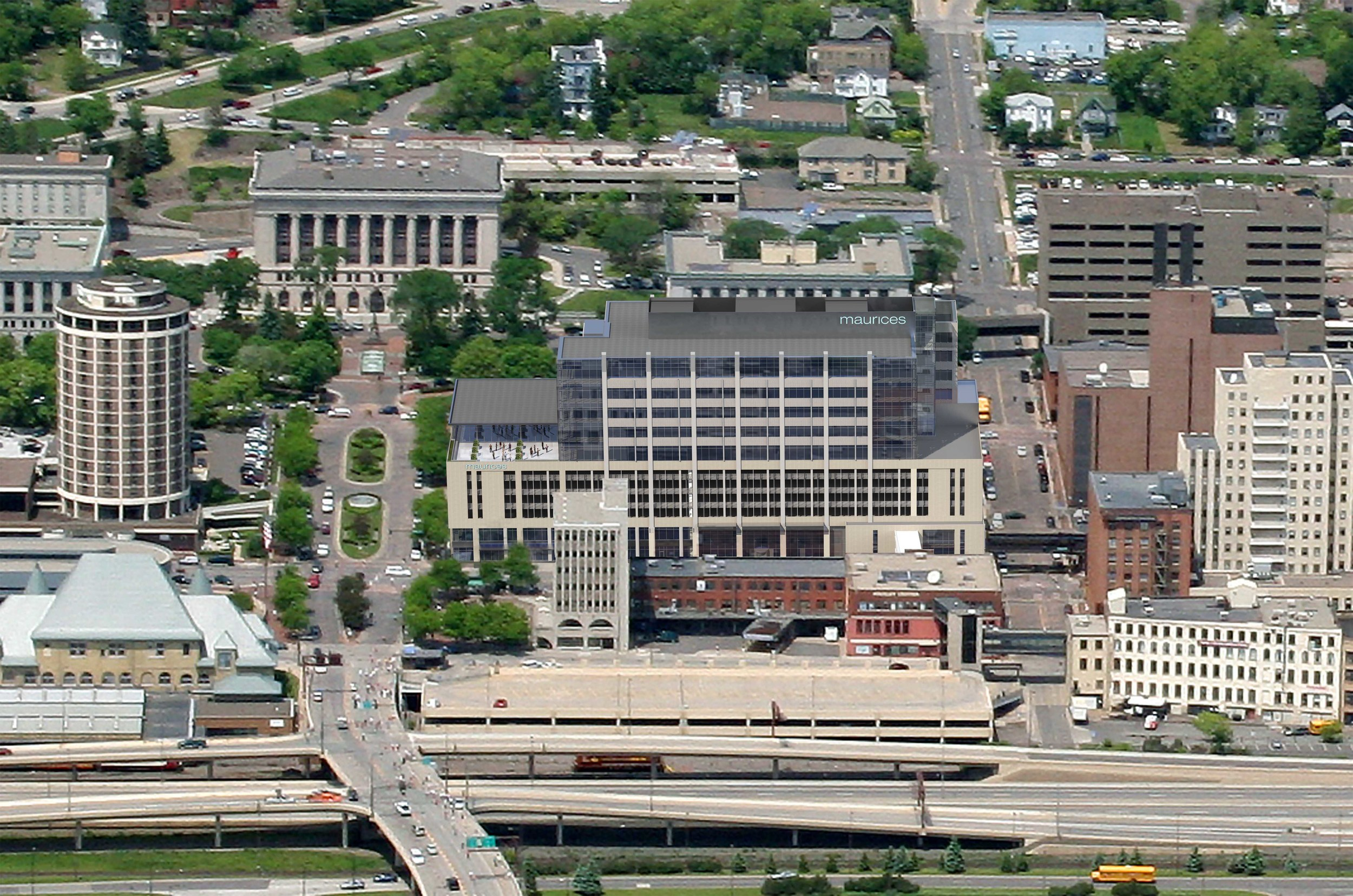 Aerial view of the new maurices Headquarters.  (Image property of maurices)