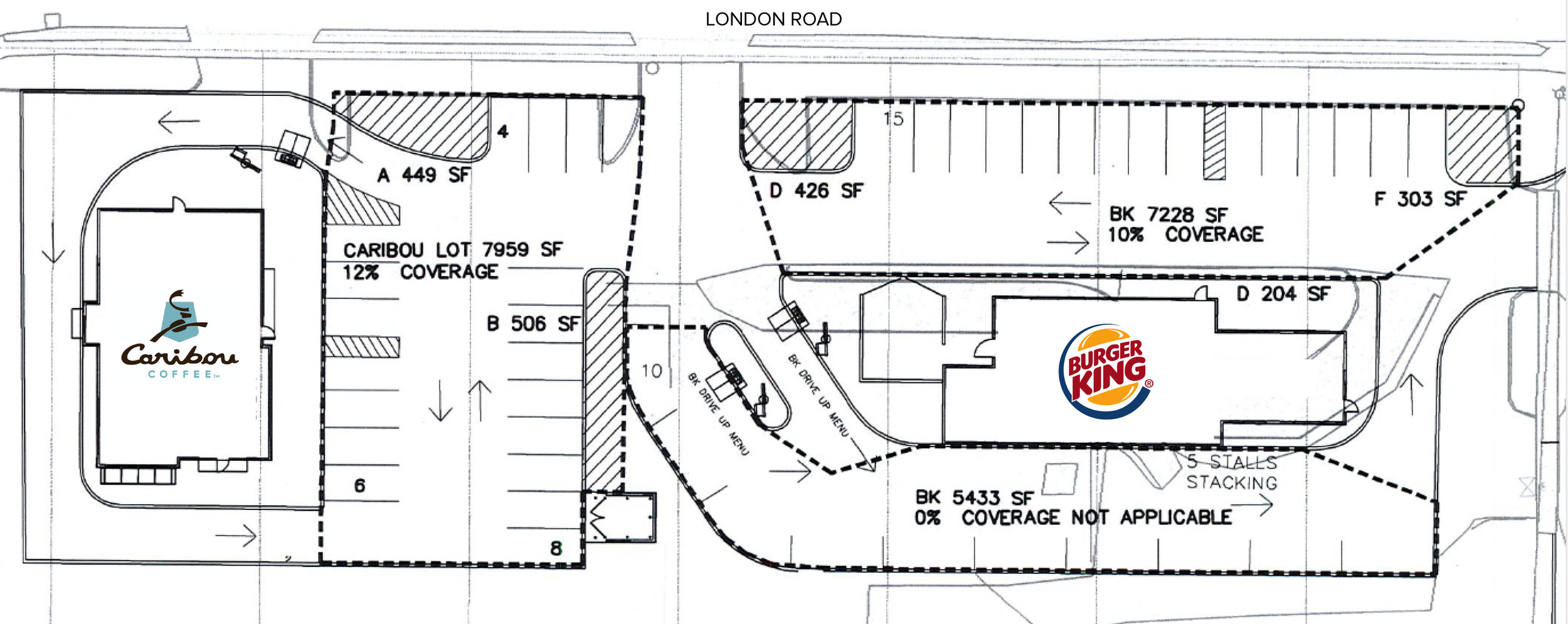 Above:  Overview of the Burger King site redevelopment