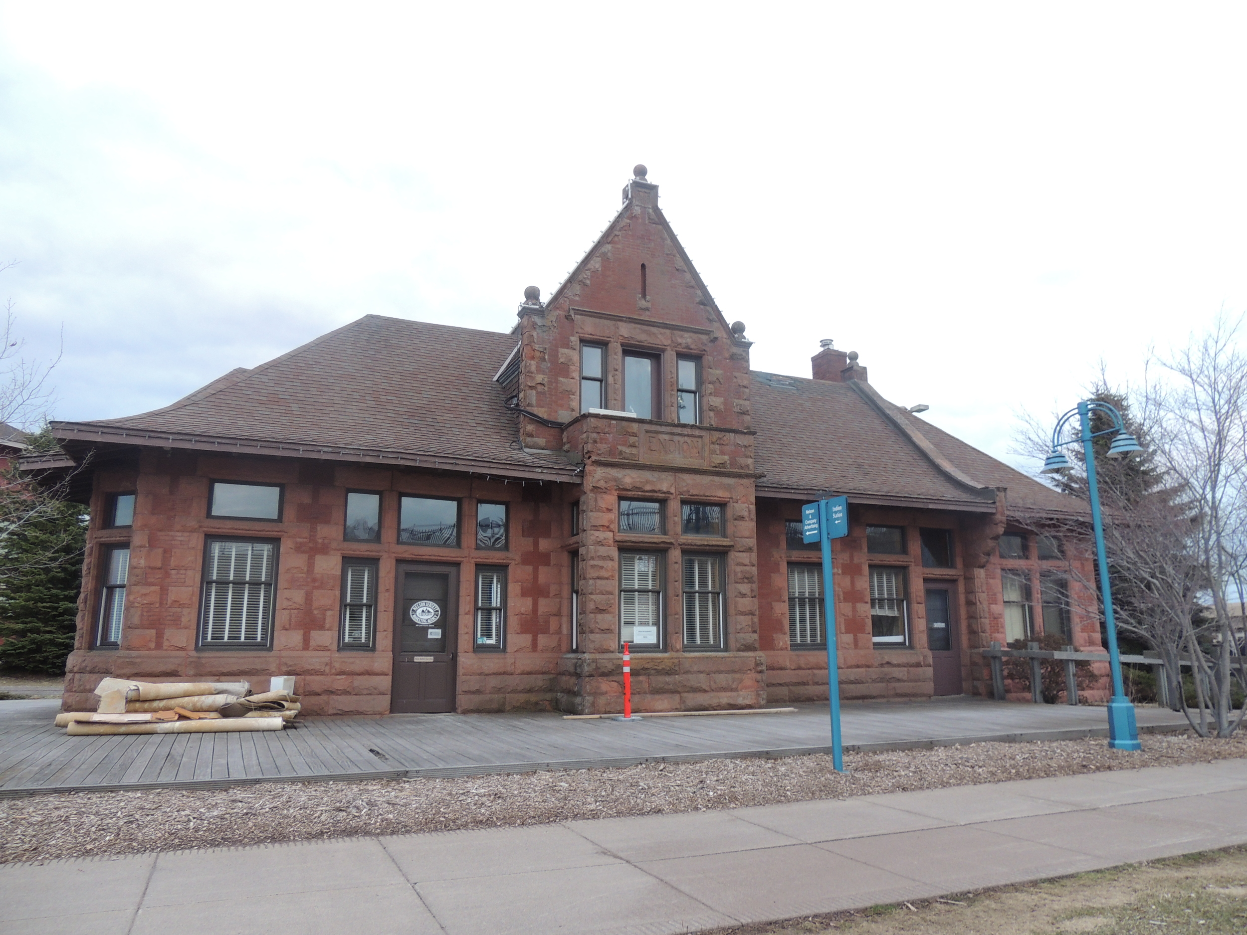 Historic Endion Station building in Canal Park