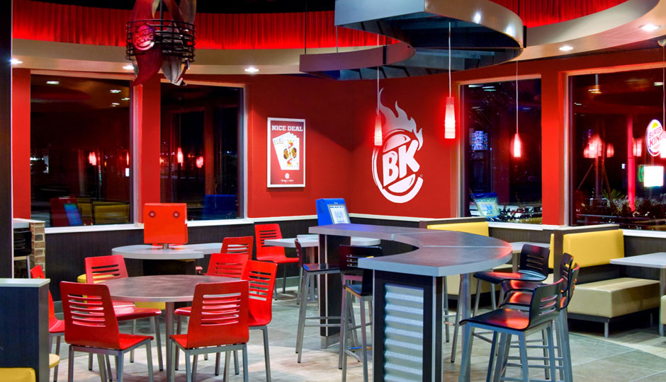 Above:  Interior of the new Burger King prototype which could be featured at the new location in Hermantown.