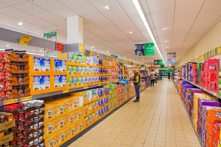 Above: Aldi store interior   (Image provided by Stewart Builders)