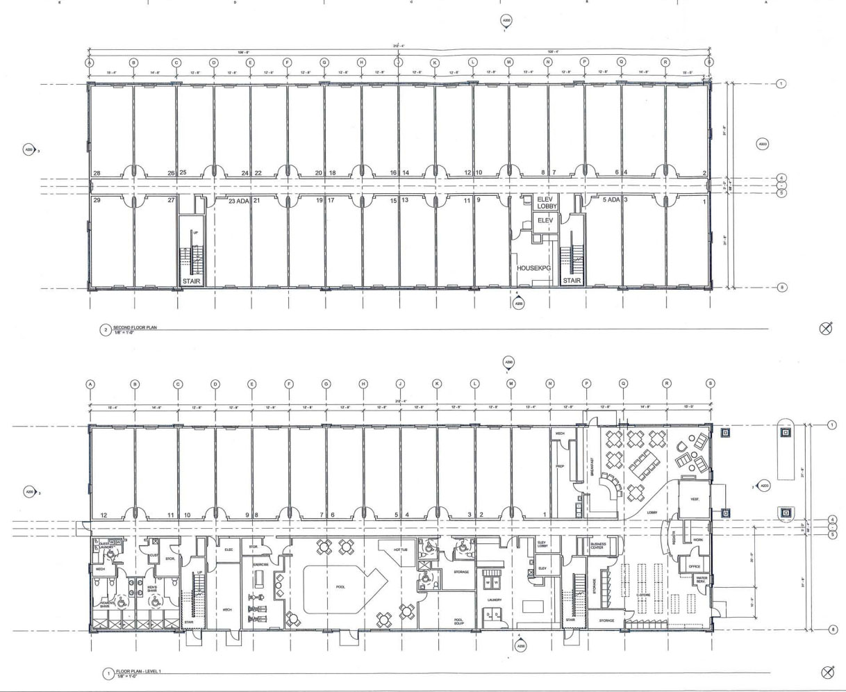 Floor plans for the new hotel.