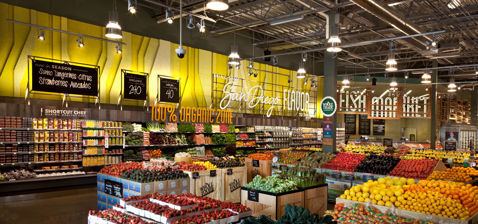 Interior of a Whole Foods Market in Del Mar, California.   (DLE Design)