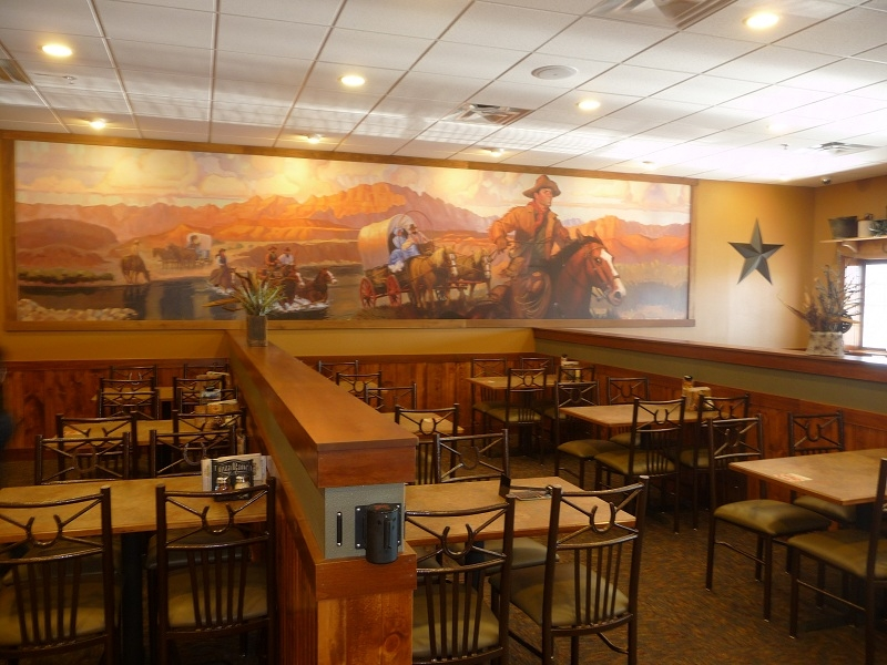 Interior of a Pizza Ranch location  |    Rochon Corporation