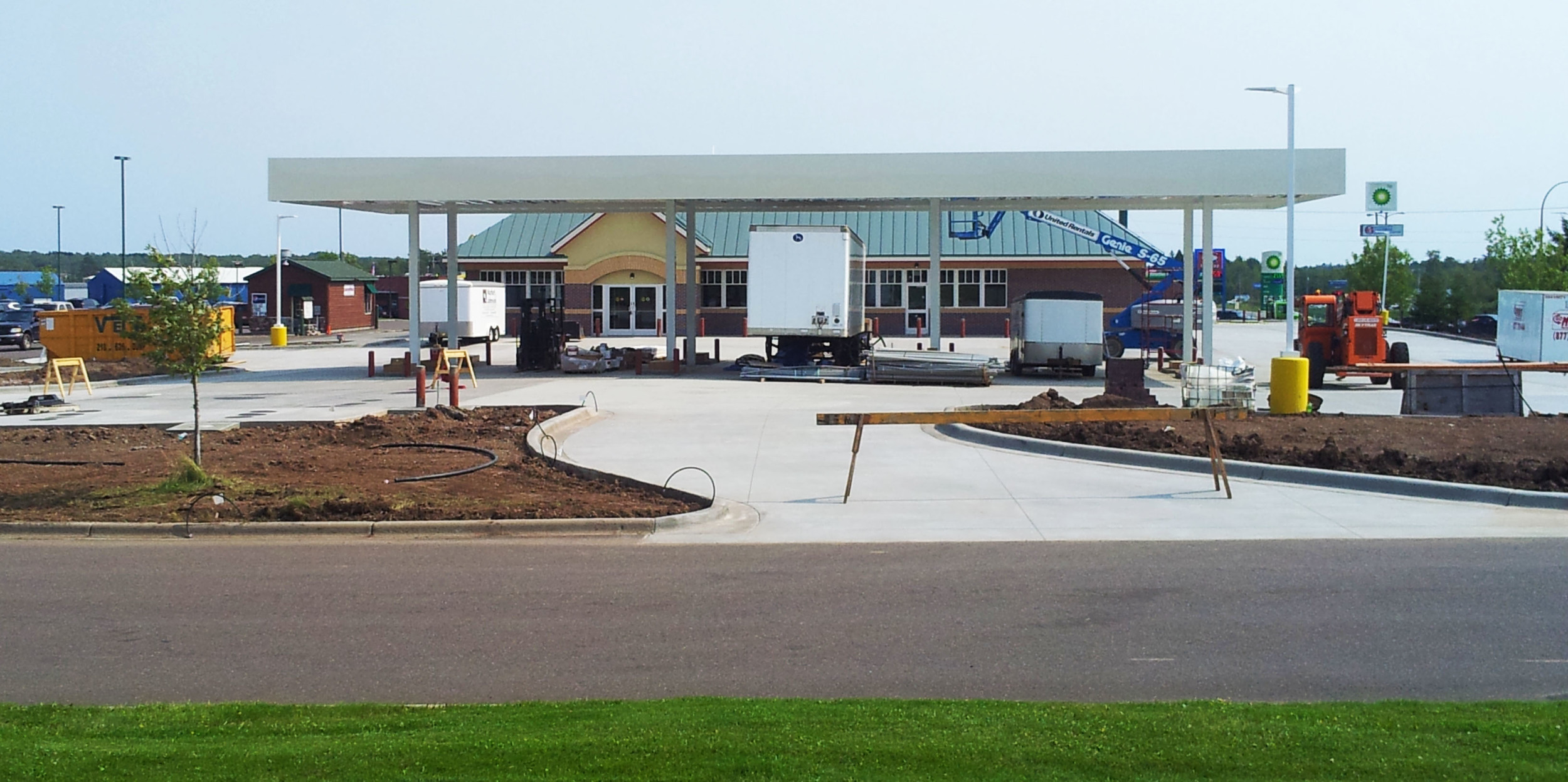 The second Hermantown Kwik Trip location under construction earlier this month  |    CDINDULUTH