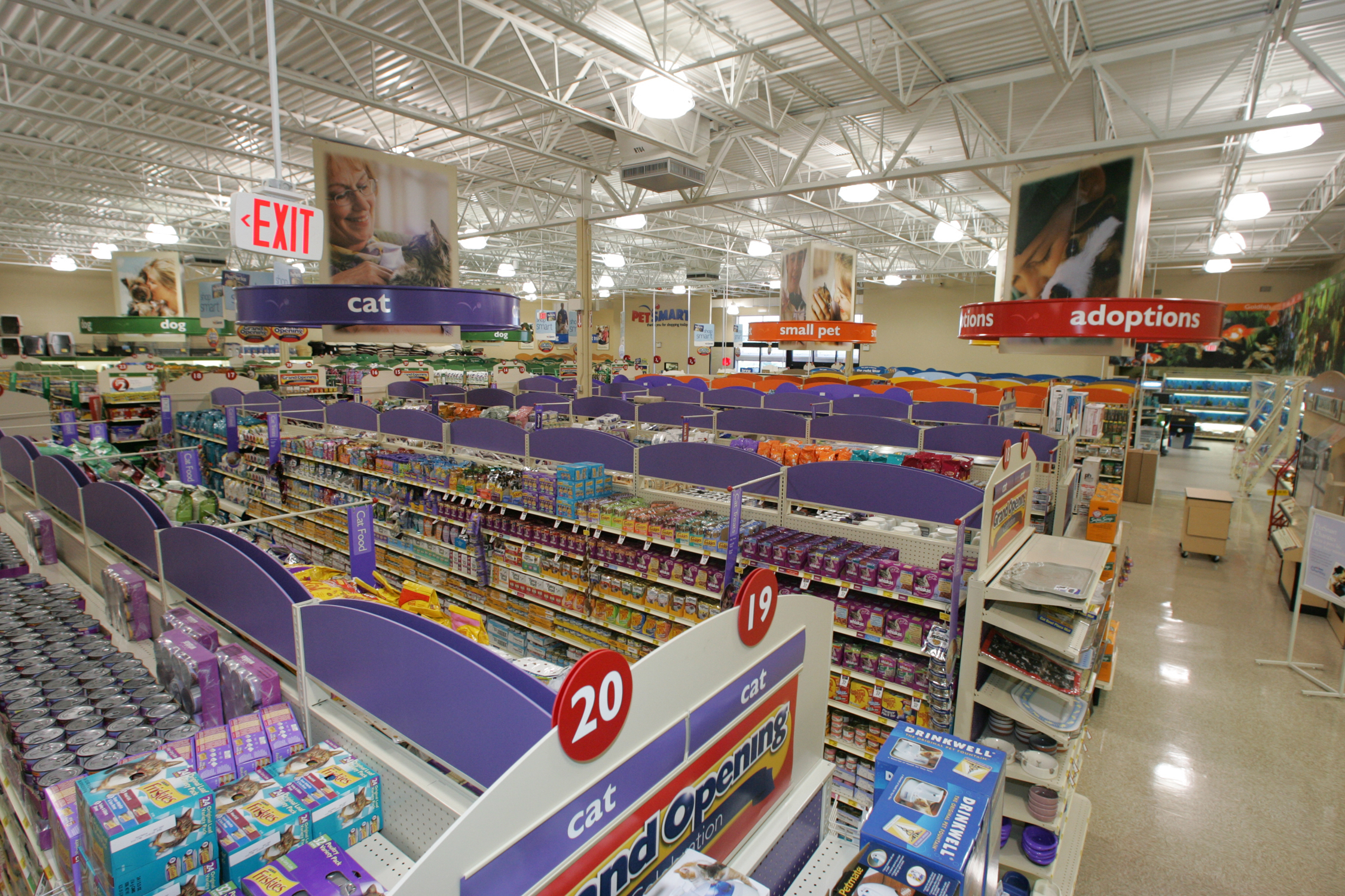 Interior of typical PetSmart location  |  PetSmart