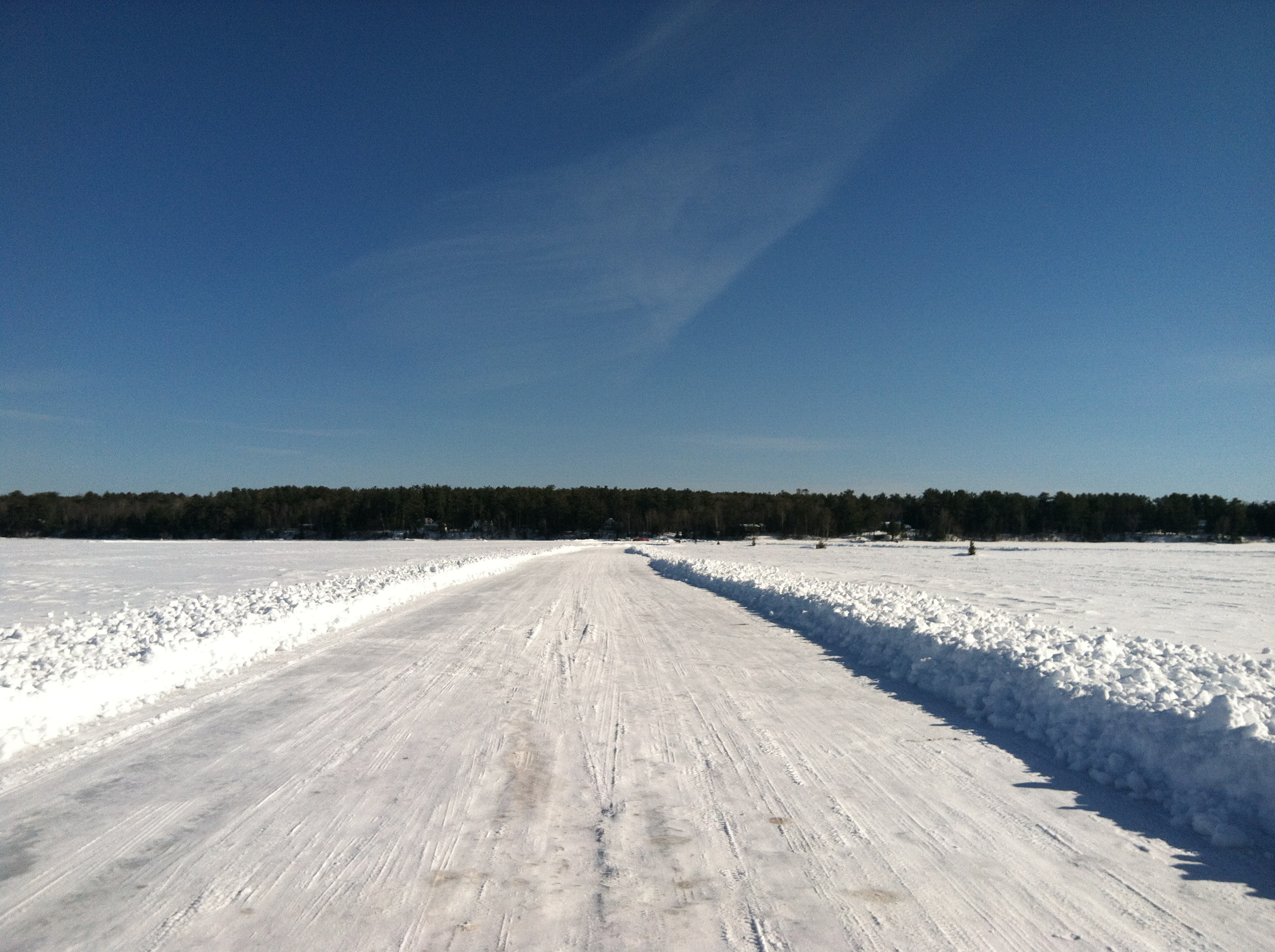 The Ice Road to Madeline Island